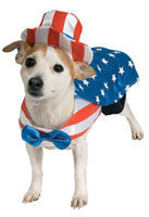 Patriotic American Dog Costume - HalloweenCostumes4U.com - Pet Costumes & Accessories