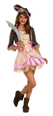 Teens Pale Pink Pirate Costume - HalloweenCostumes4U.com - Adult Costumes