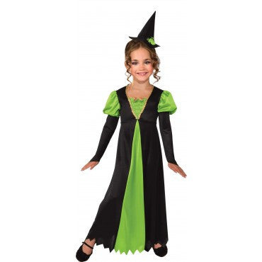 Girls Green Witch Costume - HalloweenCostumes4U.com - Kids Costumes
