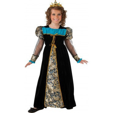 Girls Black Camelot Princess Costume - HalloweenCostumes4U.com - Kids Costumes
