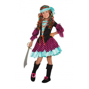 Girls Salty Taffy Pirate Costume - HalloweenCostumes4U.com - Kids Costumes