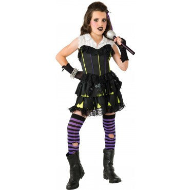 Girls Goth Rock Star Costume - HalloweenCostumes4U.com - Kids Costumes
