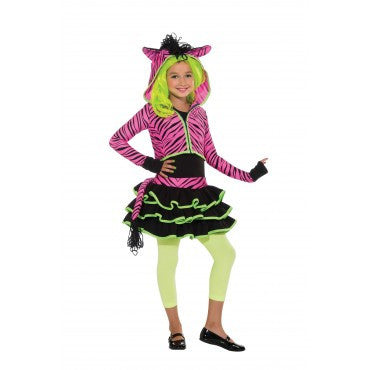 Girls Pink Zebra Costume - HalloweenCostumes4U.com - Kids Costumes