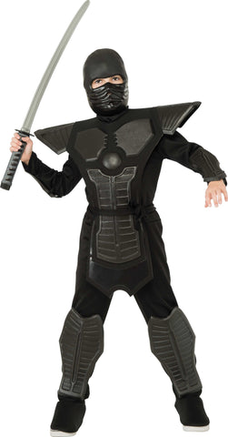 Boys Deluxe Black Ninja Costume