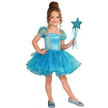 Girls Blue Garden Star Princess Costume - HalloweenCostumes4U.com - Kids Costumes