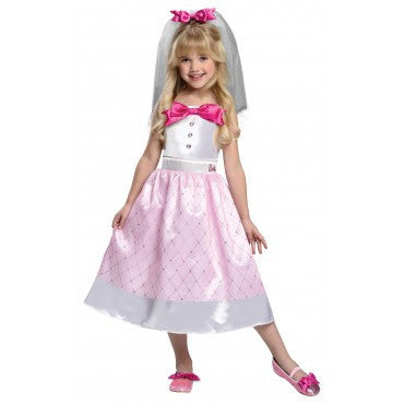 Girls Barbie Bride Costume - HalloweenCostumes4U.com - Kids Costumes