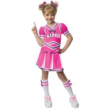 Girls Barbie Cheerleader Costume - HalloweenCostumes4U.com - Kids Costumes