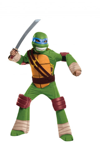 Boys Ninja Turtles Deluxe Leonardo Costume
