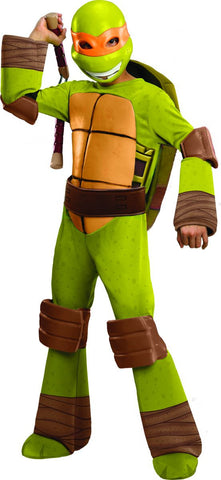 Boys Ninja Turtles Deluxe Michelangelo Costume - HalloweenCostumes4U.com - Kids Costumes