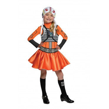 Girls Star Wars X-Wing Fighter Pilot Costume - HalloweenCostumes4U.com - Kids Costumes