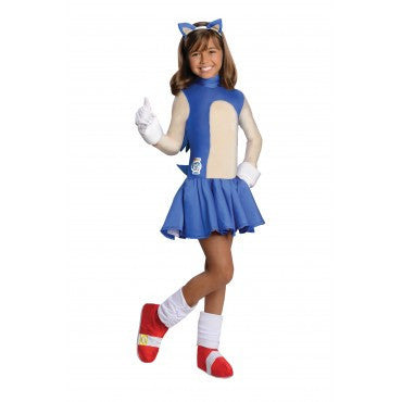 Girls Sonic the Hedgehog Costume - HalloweenCostumes4U.com - Kids Costumes