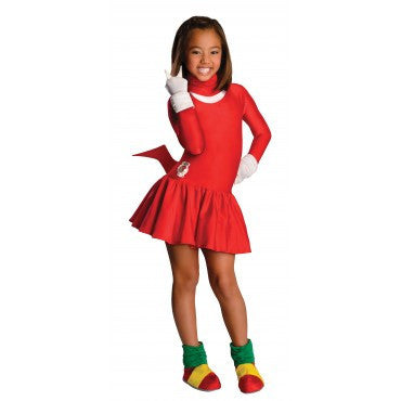 Girls Sonic Knuckles Costume - HalloweenCostumes4U.com - Kids Costumes