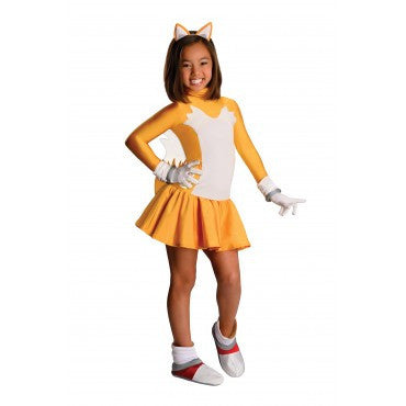Girls Sonic the Hedgehog Tails Costume - HalloweenCostumes4U.com - Kids Costumes