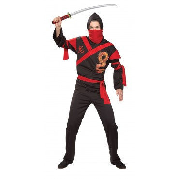 Mens Dragon Ninja Costume - HalloweenCostumes4U.com - Adult Costumes