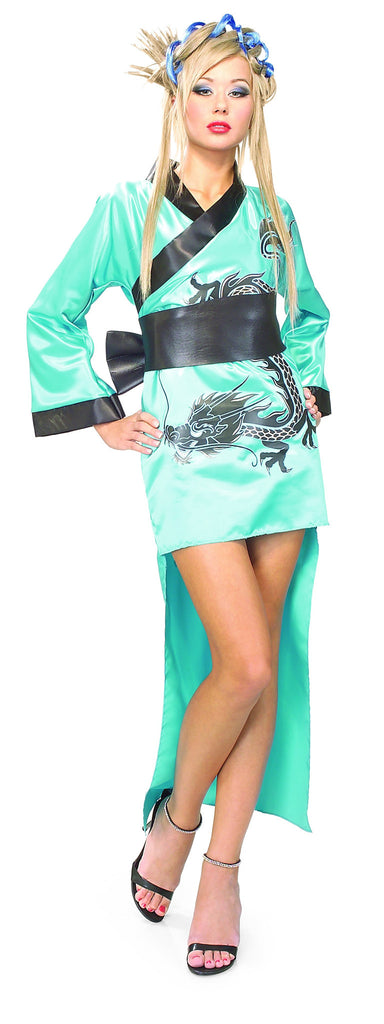 Womens Teal Dragon Lady Costume - HalloweenCostumes4U.com - Adult Costumes