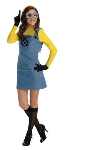 Womens/Teens Minion Costume - HalloweenCostumes4U.com - Adult Costumes