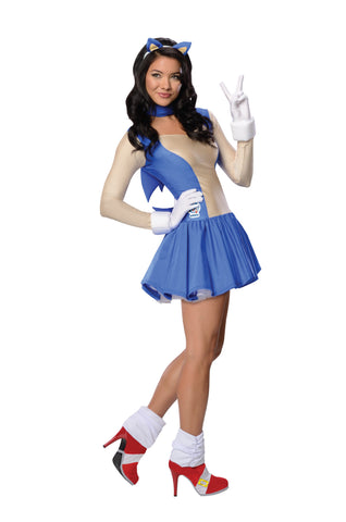 Womens/Teens Sonic the Hedgehog Costume - HalloweenCostumes4U.com - Adult Costumes