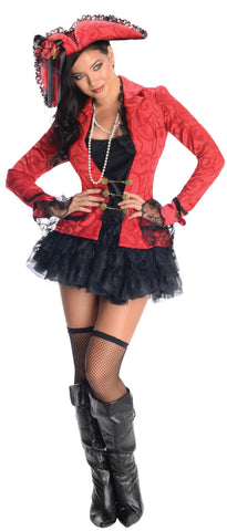 Womens/Teens Pirate Captain Costume - HalloweenCostumes4U.com - Adult Costumes