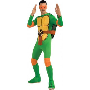 Mens Ninja Turtles Michelangelo Costume - HalloweenCostumes4U.com - Adult Costumes