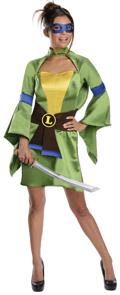 Womens/Teens Leonardo Ninja Turtle Costume - HalloweenCostumes4U.com - Adult Costumes