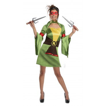 Womens/Teens Ninja Turtles Raphael Kimono - HalloweenCostumes4U.com - Adult Costumes