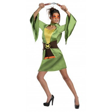 Womens/Teens Ninja Turtles Michelangelo Kimon - HalloweenCostumes4U.com - Adult Costumes