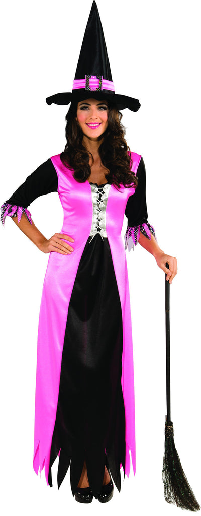 Womens Pink Witch Costume - HalloweenCostumes4U.com - Adult Costumes