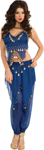 Womens Blue Belly Dancer Costume - HalloweenCostumes4U.com - Adult Costumes