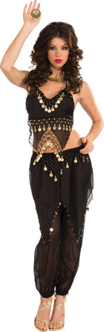 Womens Black Belly Dancer Costume - HalloweenCostumes4U.com - Adult Costumes