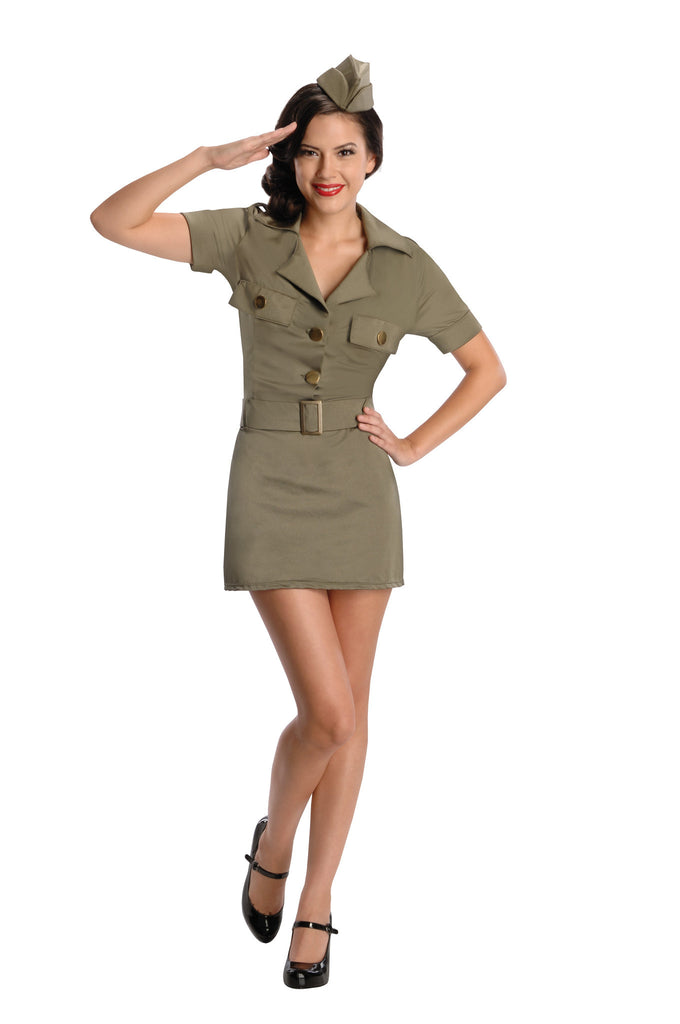 Womens/Teens 40s G.I. Girl Costume - HalloweenCostumes4U.com - Adult Costumes