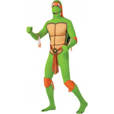 Mens Ninja Turtles Michelangelo Skin Suit - HalloweenCostumes4U.com - Adult Costumes