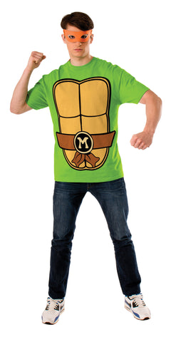 Adults Michaelangelo Ninja Turtles Costume Top - HalloweenCostumes4U.com - Adult Costumes