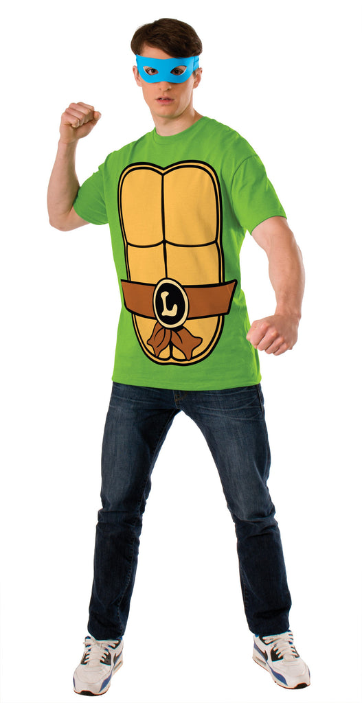 Adults Leonardo Ninja Turtles Costume Top - HalloweenCostumes4U.com - Adult Costumes