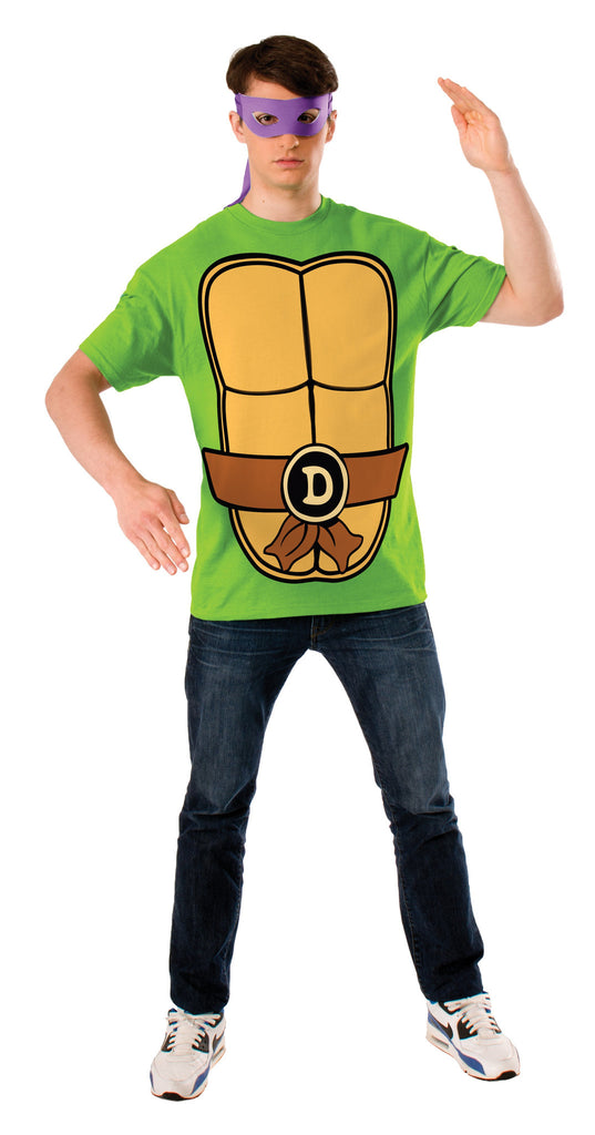 Adults Donatello Ninja Turtles Costume Top - HalloweenCostumes4U.com - Adult Costumes