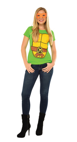 Womens Ninja Turtles Michelangelo Costume - HalloweenCostumes4U.com - Adult Costumes
