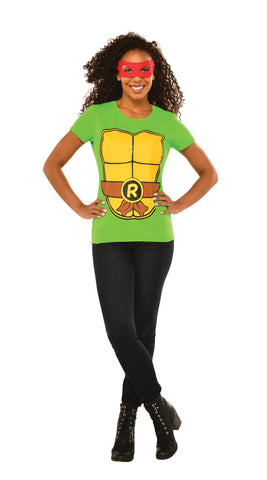 Womens Ninja Turtles Raphael T-Shirt - HalloweenCostumes4U.com - Adult Costumes