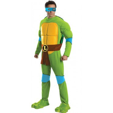 Mens Ninja Turtles Deluxe Leonardo Costume - HalloweenCostumes4U.com - Adult Costumes
