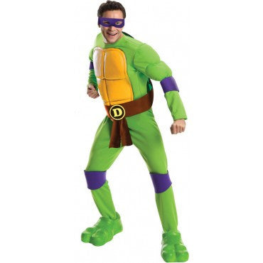 Mens Ninja Turtles Deluxe Donatello Costume - HalloweenCostumes4U.com - Adult Costumes