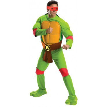 Mens Ninja Turtles Deluxe Raphael Costume - HalloweenCostumes4U.com - Adult Costumes