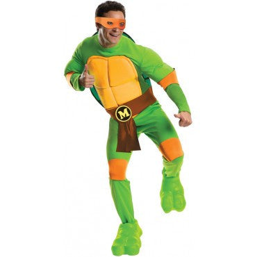 Mens Ninja Turtles Deluxe Michelangelo Costume - HalloweenCostumes4U.com - Adult Costumes