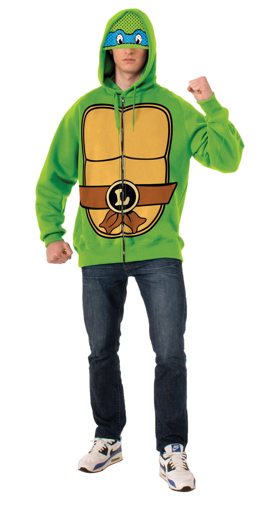 Adults Leonardo Ninja Turtles Hoodie - HalloweenCostumes4U.com - Adult Costumes