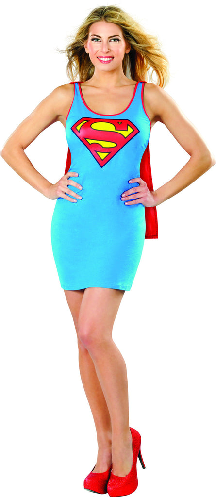 Womens Supergirl Tank Dress - HalloweenCostumes4U.com - Adult Costumes