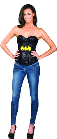 Womens Batman Batgirl Sequin Corset - HalloweenCostumes4U.com - Adult Costumes