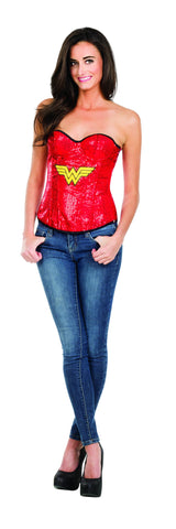Womens Wonder Woman Sequin Corset - HalloweenCostumes4U.com - Adult Costumes