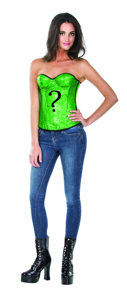 Womens Batman The Riddler Sequin Corset - HalloweenCostumes4U.com - Adult Costumes