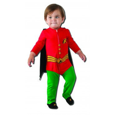 Infants Batman Robin Romper - HalloweenCostumes4U.com - Infant & Toddler Costumes