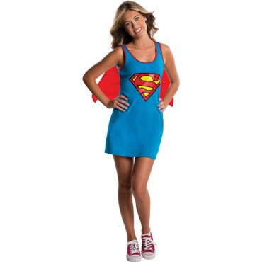 Teens Supergirl Tank Dress - HalloweenCostumes4U.com - Adult Costumes