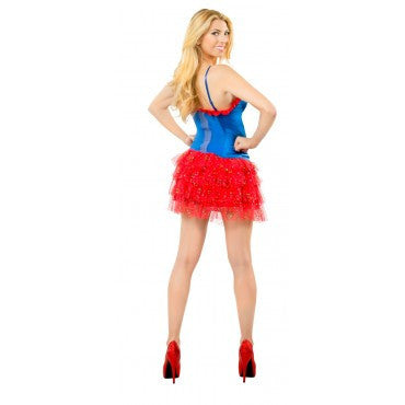 Teens Supergirl Skirt with Sequins - HalloweenCostumes4U.com - Adult Costumes