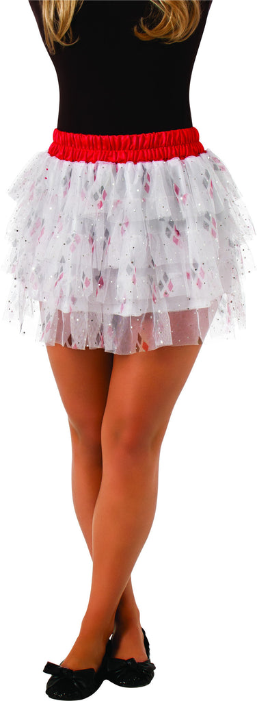 Teens Batman Harley Quinn Skirt with Sequins - HalloweenCostumes4U.com - Adult Costumes