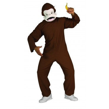 Mens Curious George Costume - HalloweenCostumes4U.com - Adult Costumes